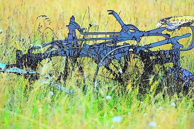 Jerry Sodorff Royalty-Free and Rights-Managed Images - Antique Field Cultivator by Jerry Sodorff