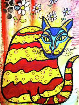 Abstract Male Faces - ANTOINE the DaisyLoving AlleyCat by Mimulux Patricia No