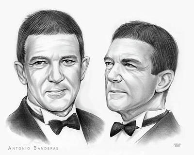 Drawings Royalty Free Images - Antonio Banderas - Pencil Royalty-Free Image by Greg Joens