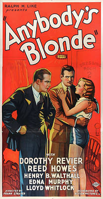 Royalty-Free and Rights-Managed Images - Anybodys Blonde movie poster 1931 by Stars on Art