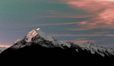 Surrealism Royalty Free Images - Aoraki  Mount Cook - Surreal Art by Ahmet Asar Royalty-Free Image by Celestial Images