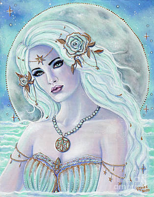 Painting - Aphrodite goddess of love by Renee Lavoie