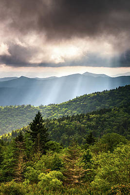 Ethereal - Appalachian Mountains Asheville NC Outdoors Scenic Overlook Landscape Prints by Dave Allen