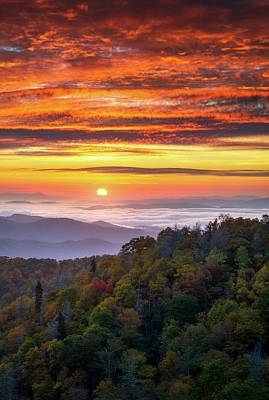 Landscapes Royalty-Free and Rights-Managed Images - Appalachian Mountains Asheville North Carolina Blue Ridge Parkway NC Scenic Landscape by Dave Allen