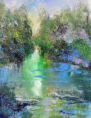 Painting - April River  by Julia S Powell