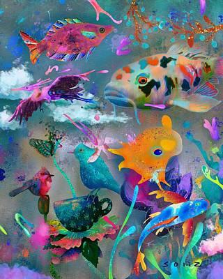 Digital Art - Aquatic by Jordan Soliz