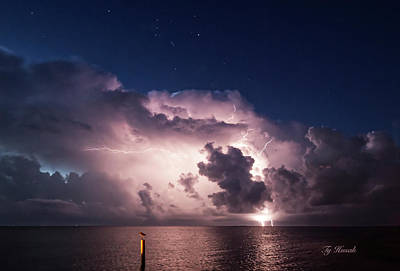 Firefighter Patents Royalty Free Images - Lightning over Aransas Bay Royalty-Free Image by Ty Husak
