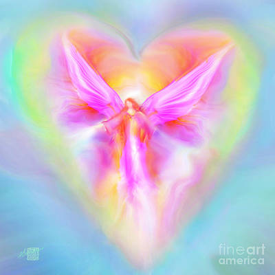 Painting - Archangel Ariel by Glenyss Bourne