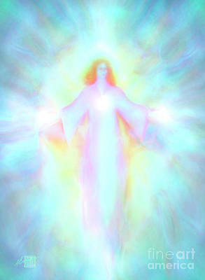 Painting - Archangel haniel by Glenyss Bourne