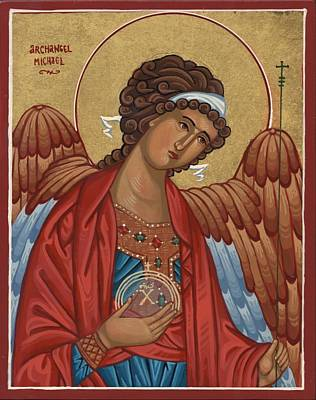 Painting - Archangel Michael by Laura Wilson