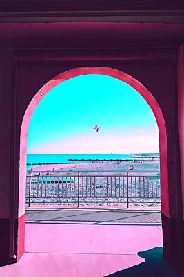 Surrealism Royalty-Free and Rights-Managed Images - Archway on the Music Pier by Surreal Jersey Shore