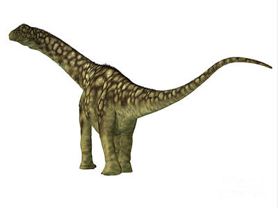 Catch Of The Day - Argentinosaurus Dinosaur Juvenile Tail by Corey Ford