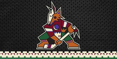 Sports Royalty-Free and Rights-Managed Images - Arizona Coyotes Mascot  by Michael Stout