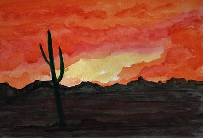 Achieving - Arizona Sunset by James Michael Johnson