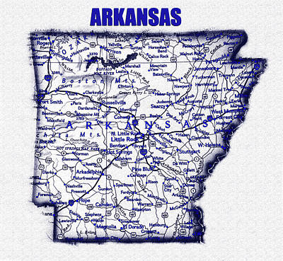 Science Collection - Arkansas blue print work by David Lee Thompson