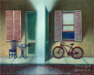 Painting - French Quarter Street Scene at Dusk by Mike Chambers