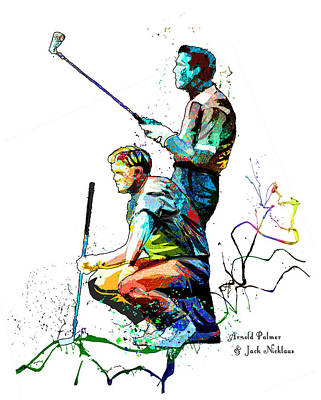 Modern Man Surf - Arnold Palmer And Jack Nicklaus Passion by Miki De Goodaboom