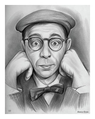 Drawings Royalty Free Images - Arnold Stang - Pencil Royalty-Free Image by Greg Joens