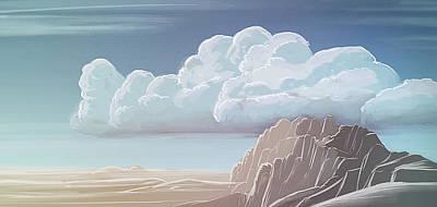 Digital Art - Art - Desert Mountains by Matthias Zegveld