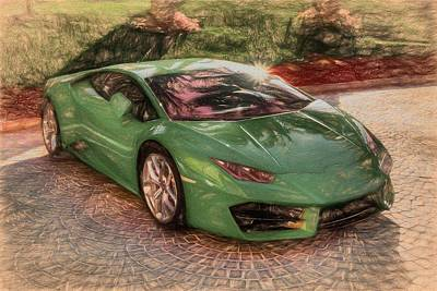Sports Royalty-Free and Rights-Managed Images - Art Of The Lamborghini Huracan  by David Pyatt