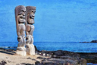 Keith Richards - Artistic Tiki Paradise by Kelley King