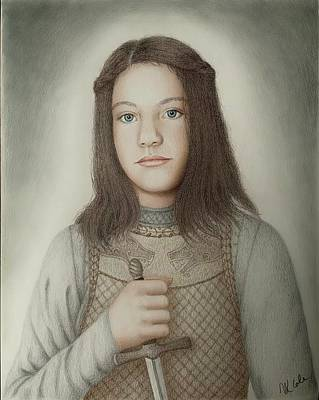 Drawing - Arya of House Stark by Vanessa Cole