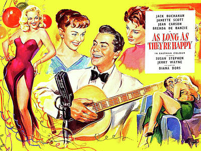 Royalty-Free and Rights-Managed Images - As Long As Theyre Happy, 1955 by Stars on Art