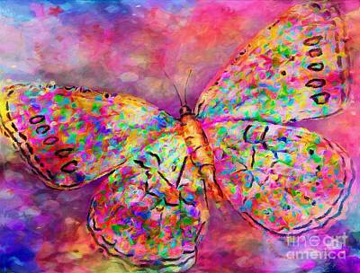 Abstract Stripe Patterns - Ascending Butterfly by Laurie