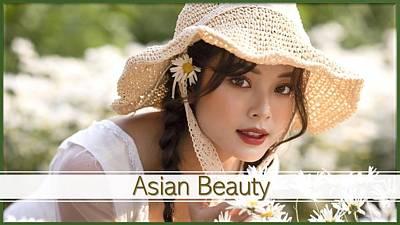 Mixed Media - Asian Beauty by Nancy Ayanna Wyatt and Ngoc Tuan Ngoc