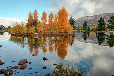 Game Of Chess - Aspen Colorado Autumn Lake and Mountain Reflections by Gregory Ballos