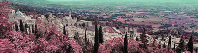 Surrealism Royalty-Free and Rights-Managed Images - AssissiTuscany Landscape , Paesaggio Toscano Italy - Surreal Art by Ahmet Asar by Celestial Images