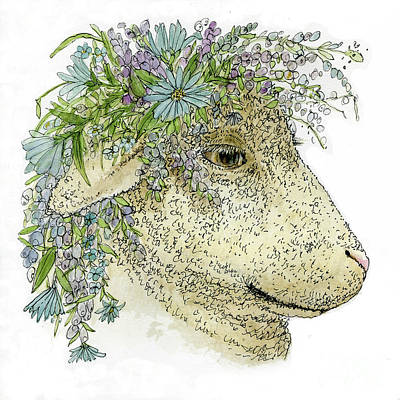 Painting - Aster Lamb  by Laurie Rohner