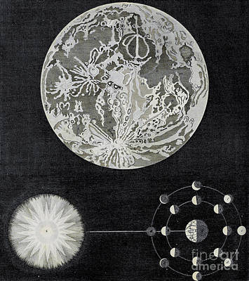 Drawings Royalty Free Images - Astronomy - Phenomena of the Moon i2 Royalty-Free Image by Historic illustrations