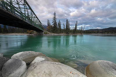 Purely Purple - Athabasca River Bridge by Jennifer Grover