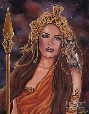 Painting - Athena Goddess by Renee Lavoie