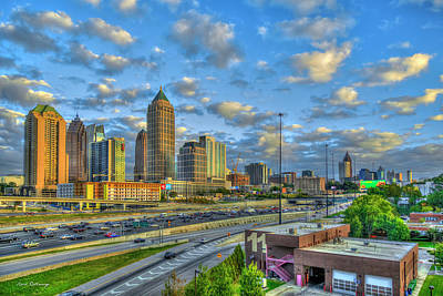 1-war Is Hell Royalty Free Images - Atlanta Midtown To Downtown Sunset Reflections Skyline Cityscape Architectural Art   Royalty-Free Image by Reid Callaway