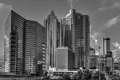 Parks - Atlanta Rising B W Architectural Cityscape Art by Reid Callaway