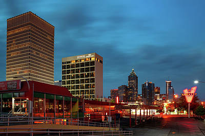 Royalty-Free and Rights-Managed Images - Atlanta Skyline Over The Varsity at Dawn by Gregory Ballos