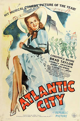Royalty-Free and Rights-Managed Images - Atlantic City poster 1944 by Stars on Art