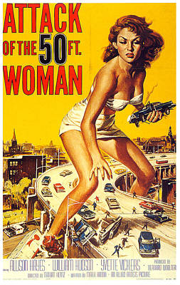 Royalty-Free and Rights-Managed Images - Attack of the 50 ft. Woman poster 1958 by Stars on Art