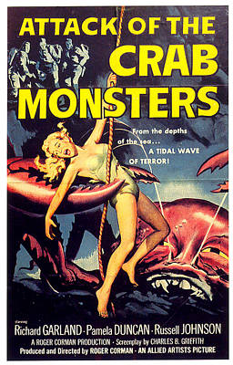 Mixed Media Royalty Free Images - Attack of the Crab Monsters movie poster 1957 Royalty-Free Image by Stars on Art