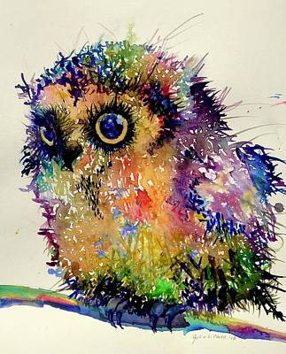 Painting - Atticus the Owl by Julia S Powell