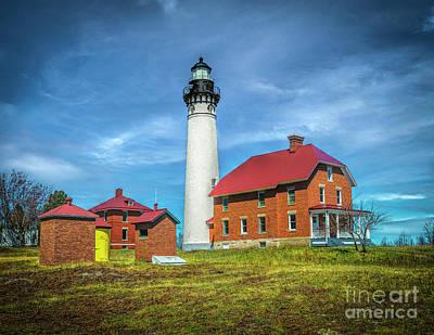 Water Droplets Sharon Johnstone - Au Sable lighthouse by Nick Zelinsky Jr