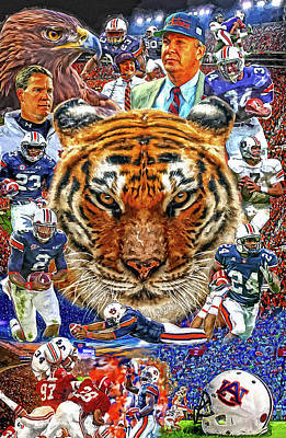 Sports Royalty-Free and Rights-Managed Images - Auburn Tigers Football by Mark Spears by Mark Spears