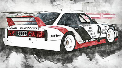 Studio Grafika Zodiac - Audi 90 IMSA GTO - 06 by AM FineArtPrints