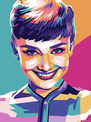 Royalty-Free and Rights-Managed Images - Audrey Hepburn - early years by Stars on Art