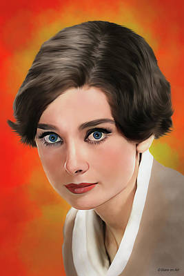 Royalty-Free and Rights-Managed Images - Audrey Hepburn illustration by Stars on Art