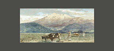 Pop Art - AUGUST LOHR German 1843 1919 A view of Iztaccihuatl Mexico by Arpina Shop
