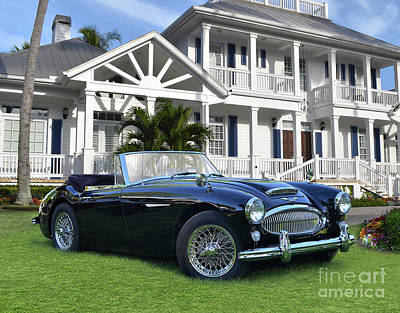 All Black On Trend - Austin Healey In Naples by Ron Long