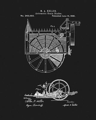 Classic Christmas Movies - Automatic Grain Binder Patent by Dan Sproul